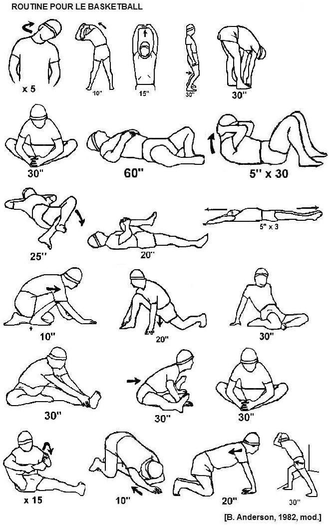Routine de stretching
